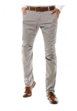 Klasické pánske Chinos nohavice svetlosivej farby