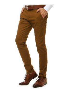 Pánske elegantné Chinos nohavice v hnedej farbe