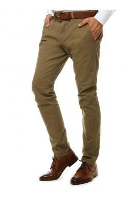 Svetlohnedé elegantné Chinos nohavice pre pánov