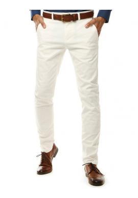 Elegantné pánske Chinos nohavice bielej farby