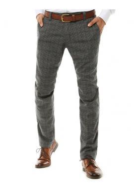 Pánske klasické Chinos nohavice so vzorom v sivej farbe