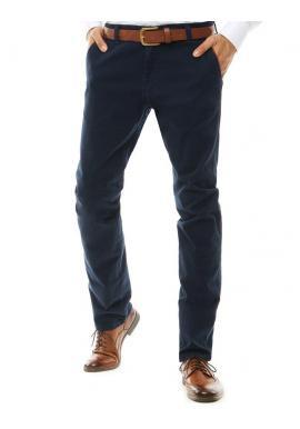 Tmavomodré klasické Chinos nohavice pre pánov