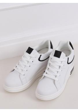 Bielo-čierne klasické tenisky na skrytom opätku pre dámy