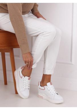 Bielo-ružové klasické tenisky na skrytom opätku pre dámy