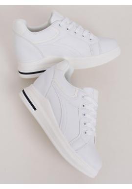 Klasické dámske tenisky bielej farby na skrytom opätku