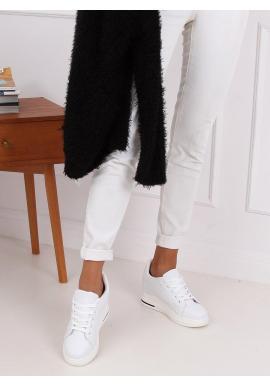 Módne dámske tenisky bielej farby na skrytom opätku