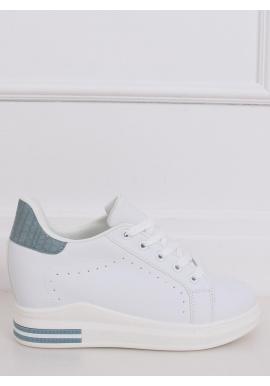 Dámske módne tenisky na skrytom opätku v bielo-modrej farbe