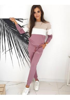 Tepláková dámska súprava GIRL BOSS fialovej farby