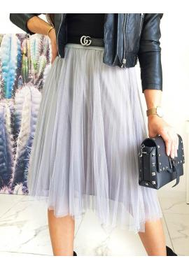 Tylová dámska sukňa svetlosivej farby