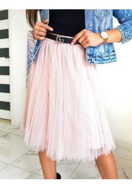Dámska tylová sukňa v práškovo ružovej farbe