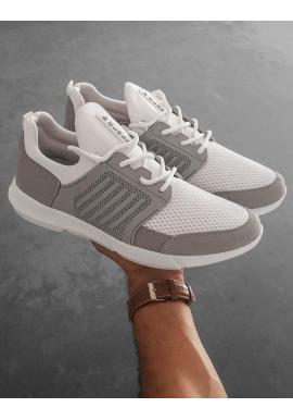 Športové pánske tenisky bielej farby