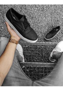 Čierne klasické tenisky pre pánov