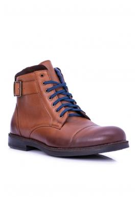 Kožené pánske topánky hnedej farby