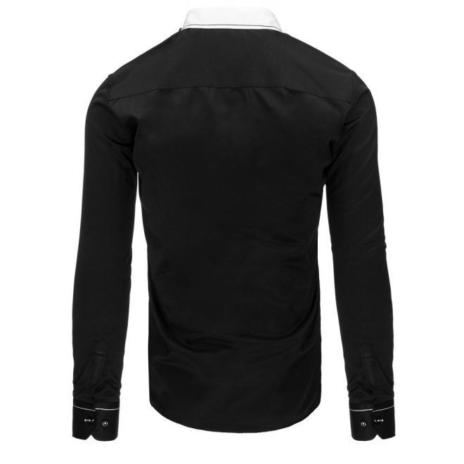 Džínová košeľa pre pánov s lebkami na ramenách