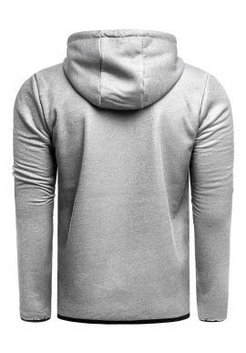 Pánska prechodná bunda s kapucňou v sivej farbe