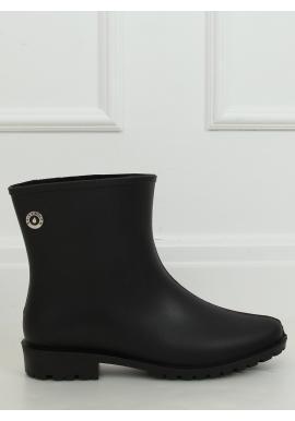 Čierne matné gumáky pre dámy