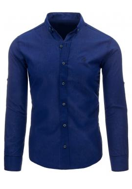 Košeľa pre pánov s dlhým rukávom fialovej farby