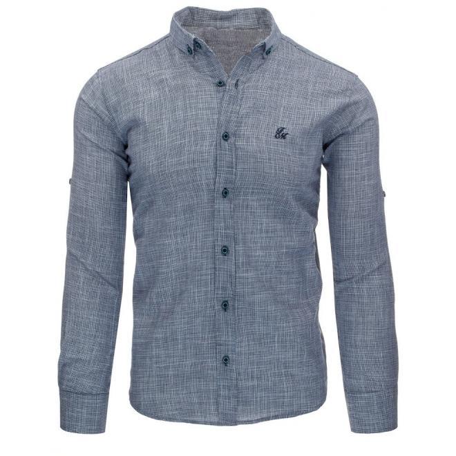 Klasická košeľa v tmavomodrej farbe pre pánov