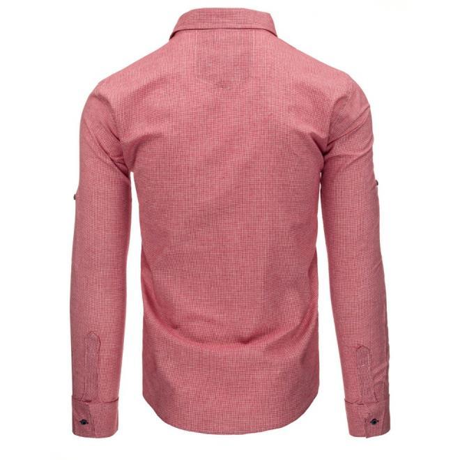 Tmavomodrá pánska košeľa s dlhým rukávom
