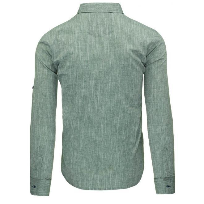 Klasická pánska košeľa v hnedej farbe