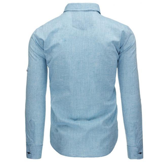 Pánska košeľa zelenej farby s dlhým rukávom