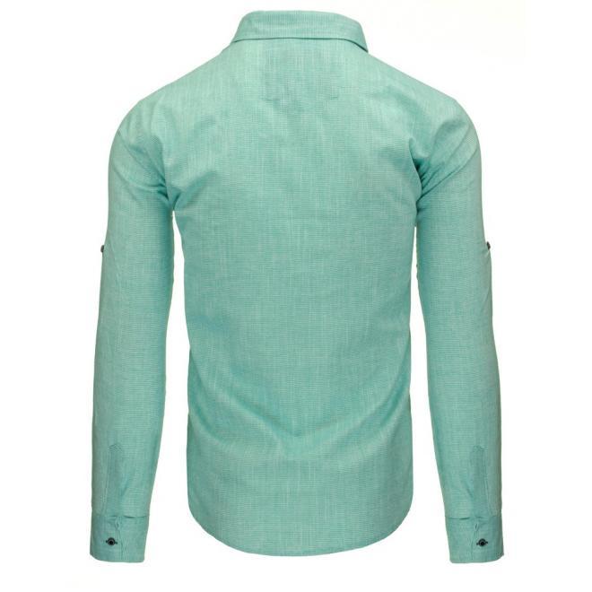 Pruhovaná pánska košeľa v červenej farbe