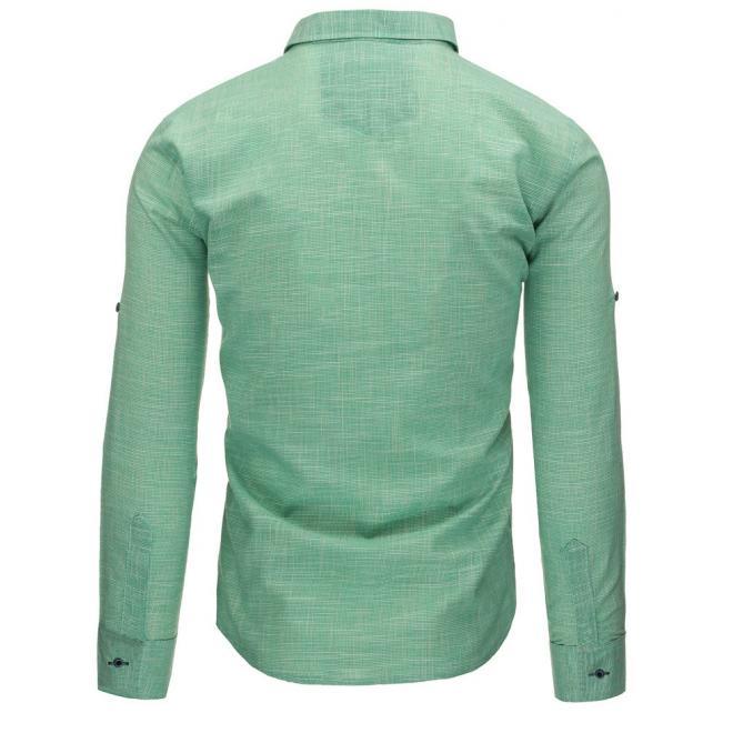 Modrá klasická košeľa s dlhým rukávom pre pánov