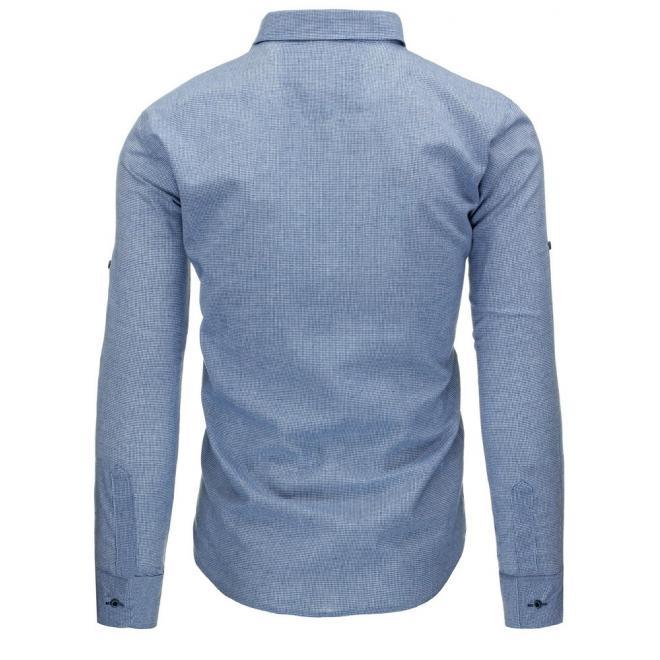 Zelená klasická košeľa pre pánov s dlhým rukávom