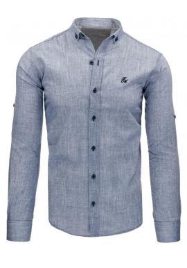 Pruhovaná košeľa pre pánov mätovej farby