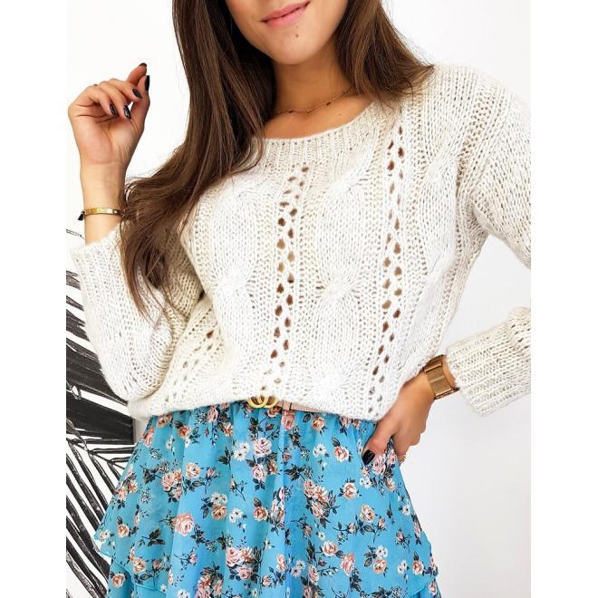 Svetlobéžový štýlový sveter pre dámy