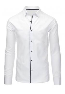 Pánska elegantná košeľa bielej farby s dlhým rukávom