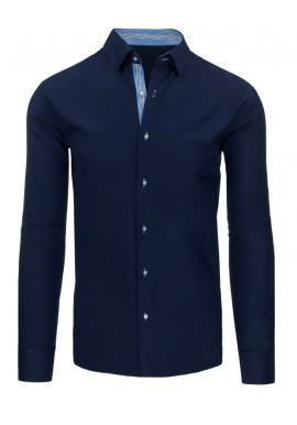 Košeľa pre pánov v čiernej farbe s dlhým rukávom