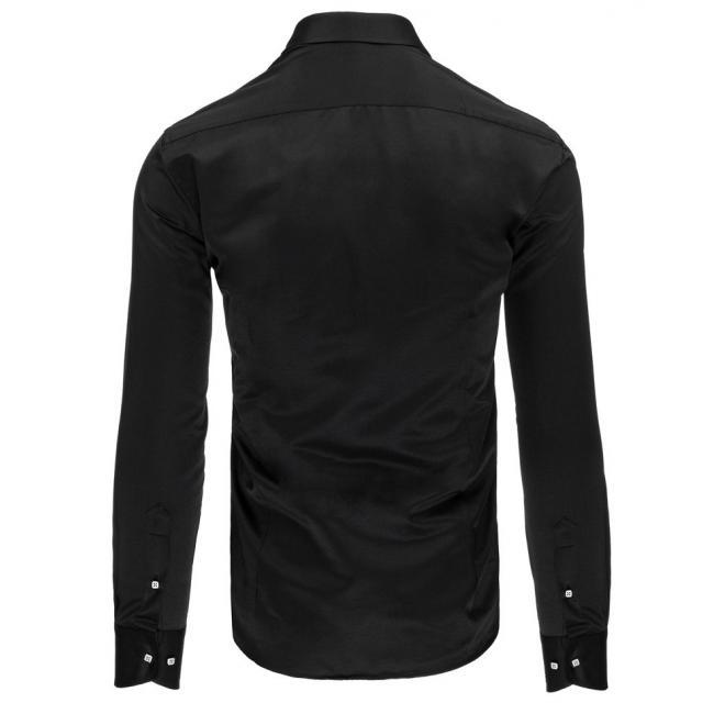 Košeľa pre pánov tmavomodrej farby s dlhým rukávom
