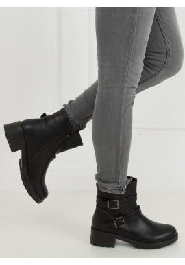Čierne lícové topánky s prackami pre dámy