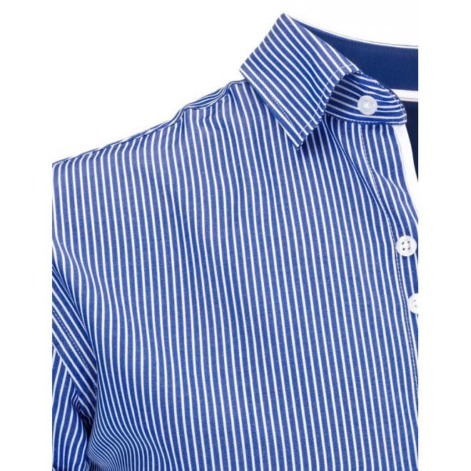 Pánska elegantná košeľa v modrej farbe