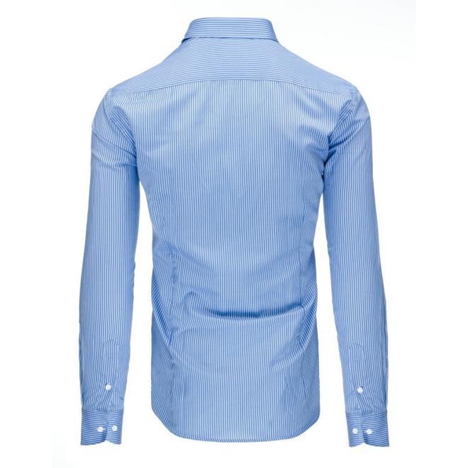 Pásikavá pánska košeľa v modro-bielej farbe