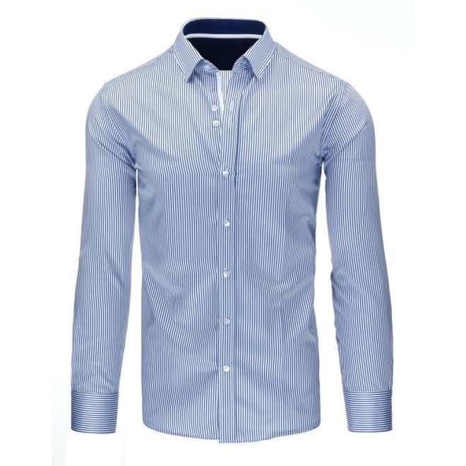 Košeľa pre pánov modro-bielej farby s pásikmi