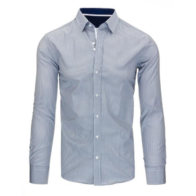 Pánska pásikavá košeľa v modro-bielej farbe