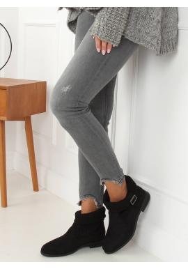 Čierne semišové topánky s ponožkovým zvrškom pre dámy
