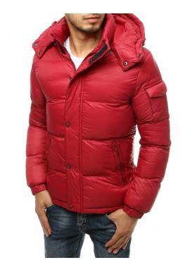 Bordová zimná bunda s prešívaním pre pánov
