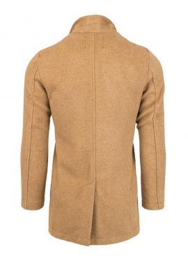 Hnedý dvojradový kabát pre pánov
