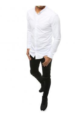 Biela elegantná košeľa s dlhým rukávom pre pánov