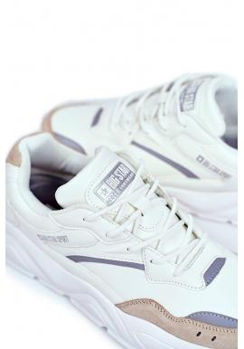 Pánske športové tenisky Big Star v bielej farbe