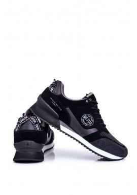 Pánske módne tenisky Big Star v čiernej farbe