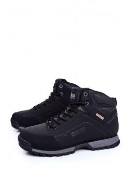 Čierne trekingové topánky Big Star pre pánov