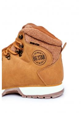 Trekingové pánske topánky Big Star hnedej farby