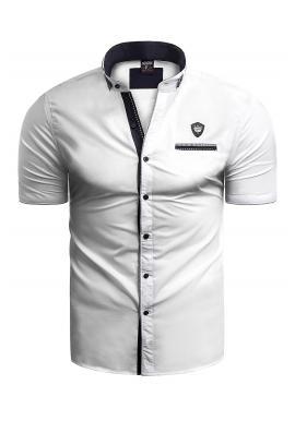 Pánska košeľa s krátkym rukávom v bielej farbe