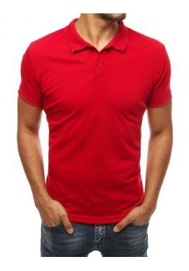 Pánska klasická polokošeľa v červenej farbe
