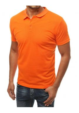Oranžová klasická polokošeľa pre pánov