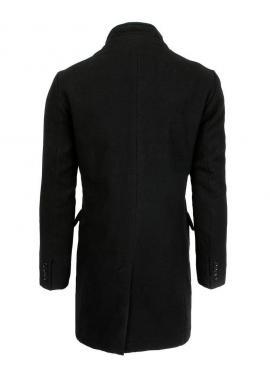 Jednoradový pánsky kabát čiernej farby na zimu